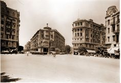 Soliman Pasha Square, Downtown Cairo, Circa 1924