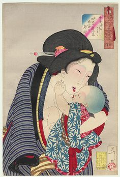 Cute: the appearance of a housewife in the tenth year of Meiji, No. 26  by Yoshitoshi (1839 - 1892)