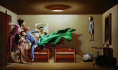 The Haunting of the Haunted Painting    2014  44 x 80 inches (111.7 x 203.2 cm)  Oil on linen  Private collection - Italy