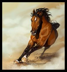 Horse painting by Paul Burgess Art Horses Pinterest
