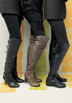 Outfits with Knee High Boots | One not-to-miss season trend: knee high leather boots.