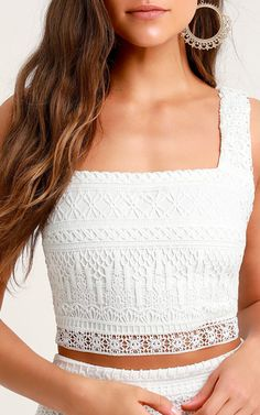 8455bfa5ab 15 Best White Crop Top Outfit images in 2016 | Stylish clothes ...