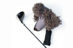 GOLF club head cover Custom Dog Grey Poodle by Puppetsinabag