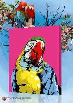 Cockatoo pop art style