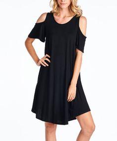 Look at this #zulilyfind! Black Cutout T-Shirt Dress #zulilyfinds