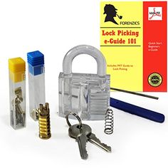 DIY Padlock Kit comes with Clear Lock Inner Parts and Tools     You can f2547b9f63b3