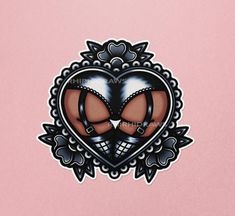 ♡ A bunch of heart-shaped bums drawn in a cute traditional-tattoo inspired style! ♡ Stickers are 2.25 inches tall. ♡ These stickers are printed on glossy, water resistant sticker paper that is perfect for your laptop, notebooks, planners and other indoor surfaces. ♡ Also available as a set of three for a bundle price! Traditional Tattoo Illustration, Traditional Tattoo Art, Hot Tattoos, Mini Tattoos, Body Art Tattoos, Tatoo Neck, Cloud Tattoo Design, Traditonal Tattoo, Private Tattoos