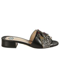 b48fe82549f21 Gucci Gucci Crystal Embellished Sandals