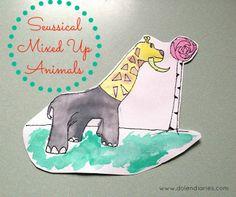 Seussical Mixed Up Animals {Dr. Seuss Inspired Art} Dolen Diaries