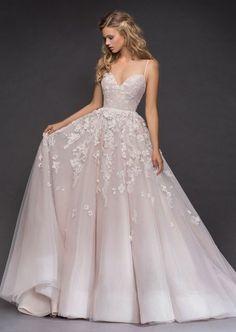 f3945e1edb9 stunning wedding sexy luxury evening appliques Evening stunning sexy Wedding  Dress Inspiration - Hayley Paige spaghetti bridal dress