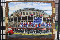 #vintage #wrigley field #painting on #reclaimed #wood for sale on website. great #fathersday gift idea!