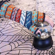 Ravelry: Haunted Handwarmers (crochet) pattern by Amy Gunderson Knitting Patterns, Crochet Patterns, Online Yarn Store, Tapestry Crochet, Sock Yarn, Knit Or Crochet, Hallows Eve, Hand Warmers, Different Colors