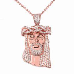 LA BLINGZ 10K Solid Rose Gold Stingray Fish DC Pendant Necklace