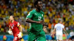 Wilfried Bony (CIV) - 1st Goal - Greece vs Cote D'Ivoire 2-1 - Group C 24 June 2014