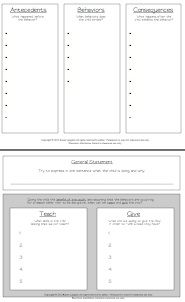 how to conduct an ABC behavior analysis and intervention plan - FREEBIE included!