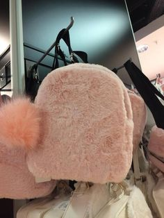 abbe1472270c Ladies Girls Light Pink Fluffy Mini Backpack Faux Fur from Primark New