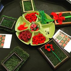An invitation to make a transient art poppy this morning ❤️. Indoor Activities For Kids, Summer Activities, Outdoor Activities, Remembrance Day Activities, Remembrance Day Art, Animal Crafts For Kids, Art For Kids, Reggio, Art