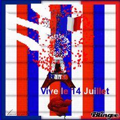 14 juillet en bleu blanc rouge