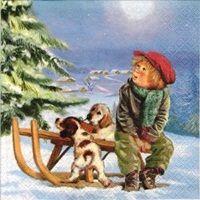 2064 Servilleta decorada Navidad