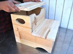 Storage Step Stool     -      Make this easy project with (and for) the kids.