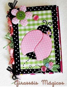 patchwork embutido caderno joaninha