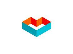 ML / M + L + heart = geometric monogram / logo design symbol by Alex Tass