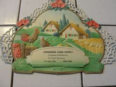 Jorgensen Farm Supply chickens on the farm, old die cut picture,Germany, vtg | Collectibles, Advertising, Other Collectible Ads | eBay!