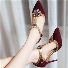 Noble Rhinestone Pointed-toe Stiletto Sandals