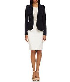 Calvin Klein Notch-Collar Jacket & Pencil Skirt