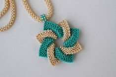 Seed Bead Necklace Beadwoven Necklace by craftybeadcollection Seed Bead Necklace, Seed Beads, Beaded Necklace, Beaded Bracelets, Beading Projects, Beading Tutorials, Beading Patterns, Beaded Jewelry Designs, Beading Techniques