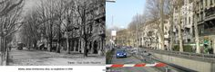 Krešimirova ulica još jednom. Beli Kamik nekad i sad. Drvored na suprotnoj strani ulice davno je, nažalost, žrtvovan.