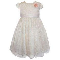 Blueberi Boulevard Floral Lace Dress - Girls 4-6x
