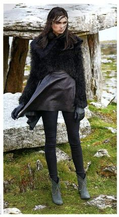 Social and Personal Dec12 : Stylist Roxanne Parker, Model Maria Bordman. MONSTER KNIT AW12.