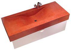 Armut ağacından yapılmış, suya dayanıklı nano teknoloji cila ile orjinal yapısı korunan ahşap lavabo- Cİni Lava ürünü...