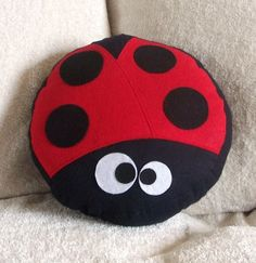 The LadyBug Pillow - if it can be a cookie (or a cupcake), it can be a cushion!
