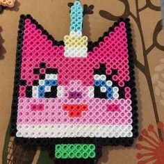 Unikitty Lego Movie perler beads by nerdybeadz
