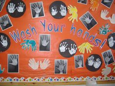 A super Wash Your Hands classroom display photo contribution. Great ideas for your classroom! Preschool Displays, Classroom Wall Displays, Eyfs Classroom, Class Displays, Toddler Classroom, Classroom Walls, Classroom Organisation, Year 1 Classroom Layout, Early Years Displays