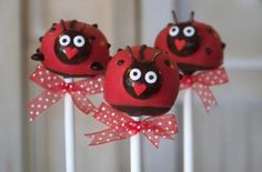 Lovely Ladybug Cake Pops  (Are these not the cutest things you've ever seen?!)