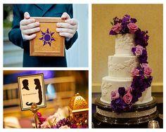 Cake w/ purple flowers