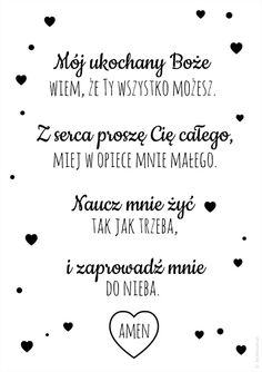 moj-ukochany-boze-czarny-lecibocianpl-m Nursery Room Decor, W 6, Quotes For Kids, God Is Good, Kids And Parenting, Gods Love, Motto, Cool Words, Quotations