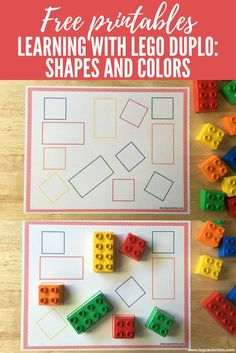 Discover thousands of images about Learning with LEGO DUPLO: Shapes and Colors Preschool Learning Activities, Color Activities, Infant Activities, Kids Learning, Learning Shapes, Learning Colors, Dinosaur Activities, Sorting Activities, Learning Numbers