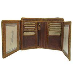 Edles Design Damen Portemonnaie Geldbörse Geldbeutel groß Echtleder pink Blätter