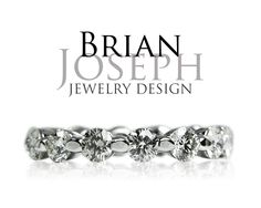 Custom floating eternity diamond wedding band. This design works with any engagement ring!  Also, can be worn as a classic anniversary band.  Custom Designs - Brian Joseph Jewelry  www.BrianJosephJewelry.com