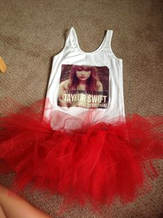 The outfit I will be wearing to the Taylor Swift concert. The group I am going with and I will also be straightening our hair and putting on red lipstick. This is a great idea if you want to get in to club RED!