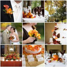 September Weddings peach and dark red roses | Wedding ideas | Pinterest