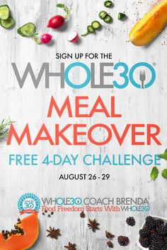 Sign up today to learn how to make easy Whole30 meals to jump start your next Whole30 or just eat healthier meals. The Challenge takes place August 26-29, 2019. Healthy Foods To Eat, Healthy Eating, Healthy Recipes, 30 Day Challenge, Whole 30 Recipes, Small Groups, Make It Simple, Meal Planning, How To Find Out