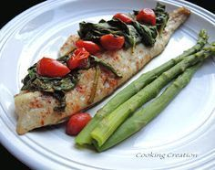 Cooking Creation: Baked Haddock with Balsamic Spinach & Tomato Topping