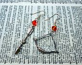 The Hunger Games inspired bow and arrow earrings