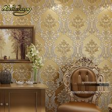 beibehang Luxury Classic Wall Paper Home Decor Background Damask  Golden Floral covering 3D velvet Wallpaper Living Room //Price: $US $36.21 & FREE Shipping //     #festive #party #birthdayparty #christmas #wedding decoration #event