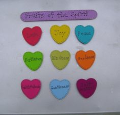 Fruits of the Spirit Christian/Inspirational Magnet by ifrogcrafts, $7.00